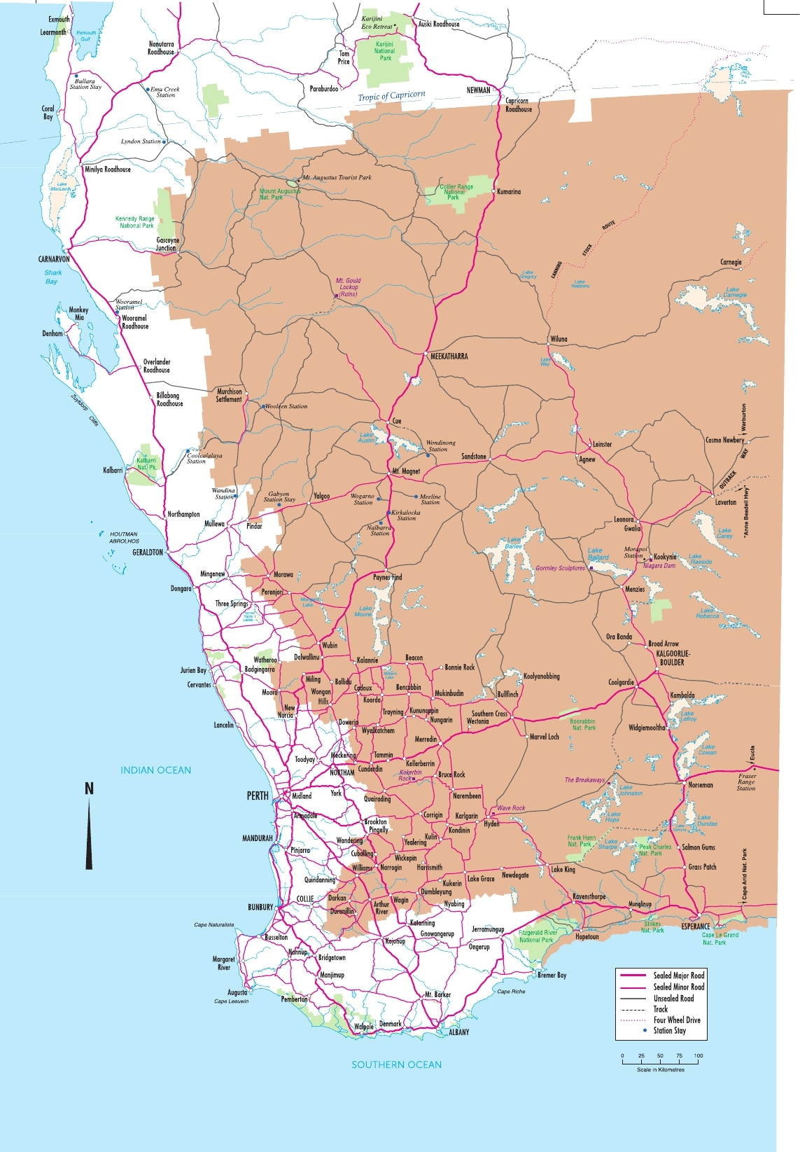Map Of Western Australia With Towns.Maps Of The Golden Outback Australias Golden Outback