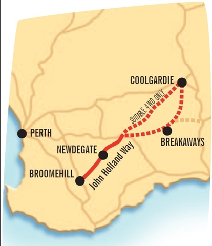 Western Australia 4wd Map.John Holland Track Roadtrip Broomehill To Coolgardie Western