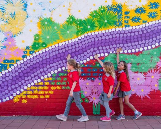 Heartwalk - Art in the Heart of the Kalgoorlie CBD is all about enlivening the Central Business District with vibrant and contemporary murals