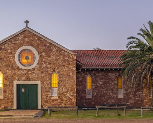 Exterior of Morawa Church-supplied by Gerry Eastman from Hawes Heritage Trail