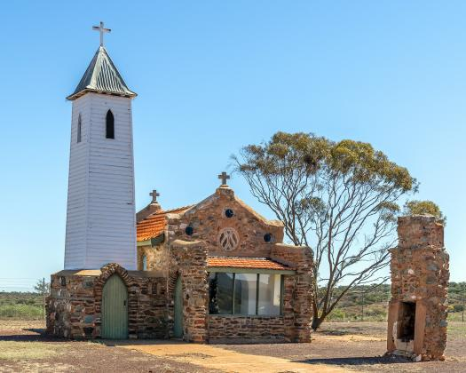 Exterior of Yalgoo Chapel supplied by Gerry Eastman from Hawes Heritage Trail