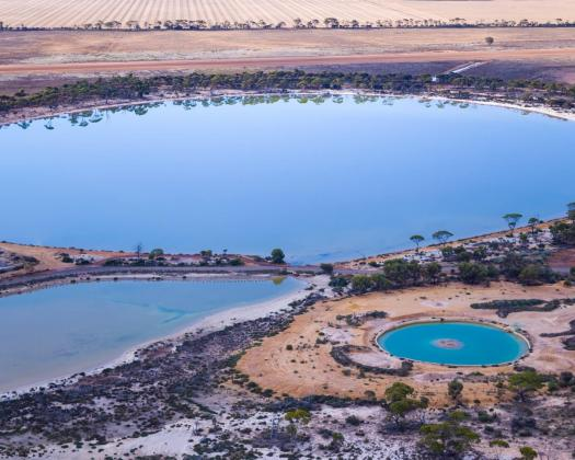 Wave Rock Resort aerial