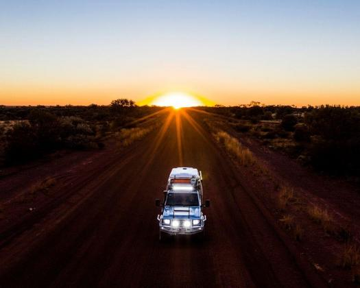 4WD exploring The Outback Way