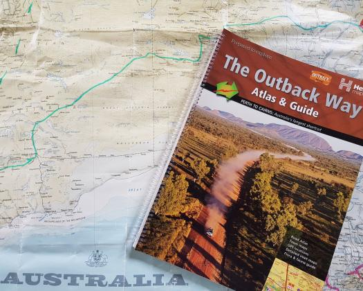 The Outback Way guidebook and map