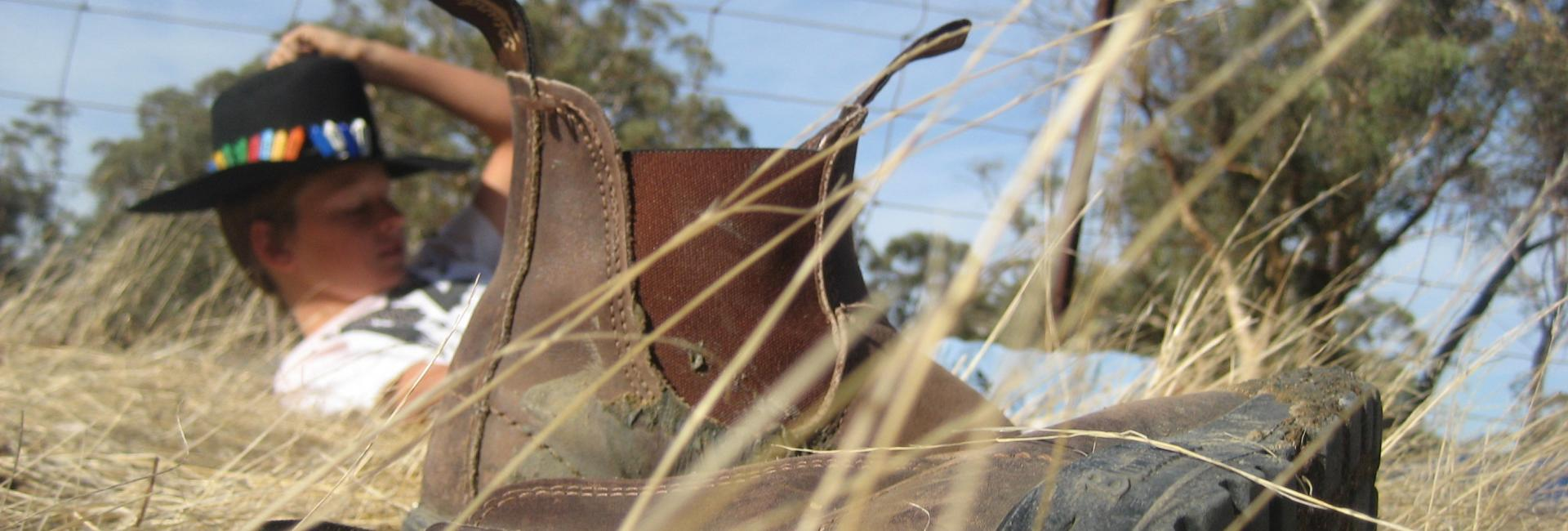 Quairading, Western Australia, Country Life – farm boots and country hat