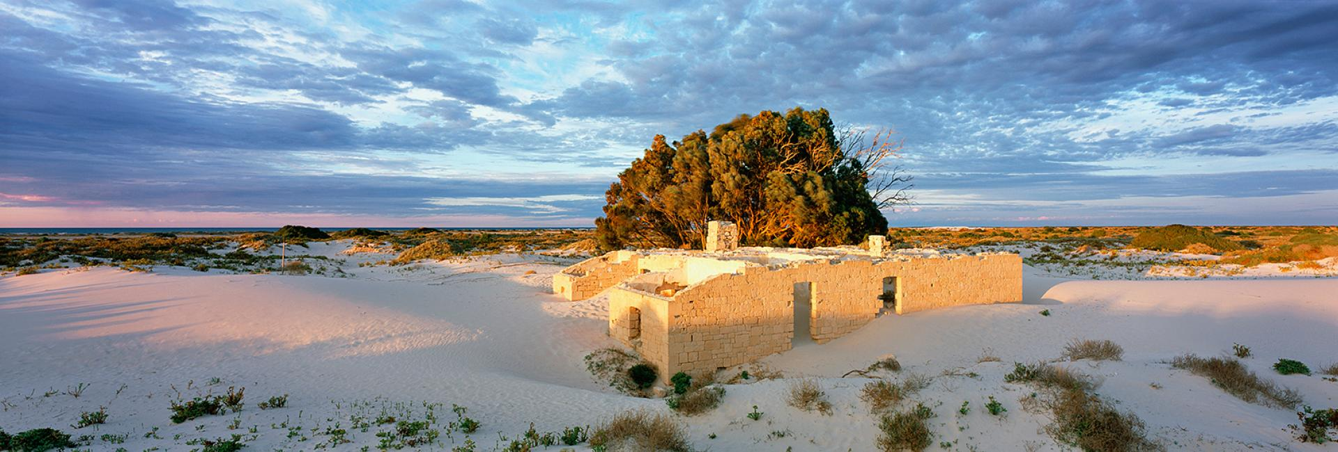 Eucla Old Telegraph Station ruins
